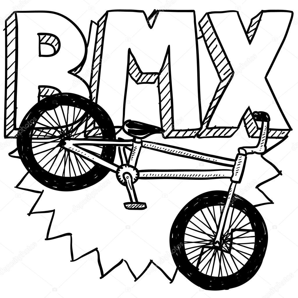 Szkic rower BMX — Grafika wektorowa © lhfgraphics #21156191