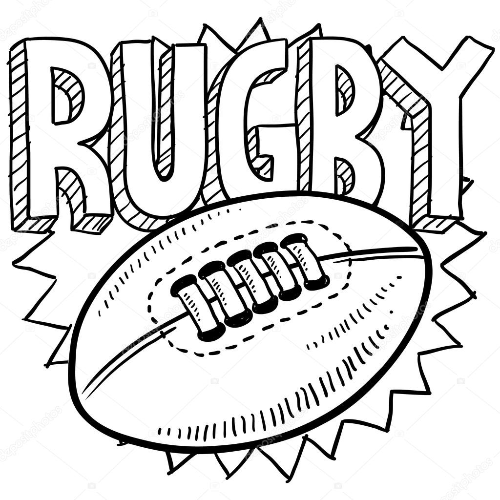 Rugby sports sketch — Stock Vector © lhfgraphics #21156329
