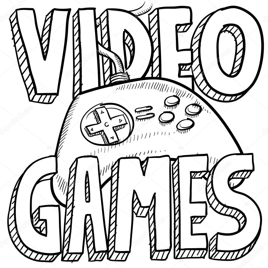 Game Controller Coloring Page Coloring Pages