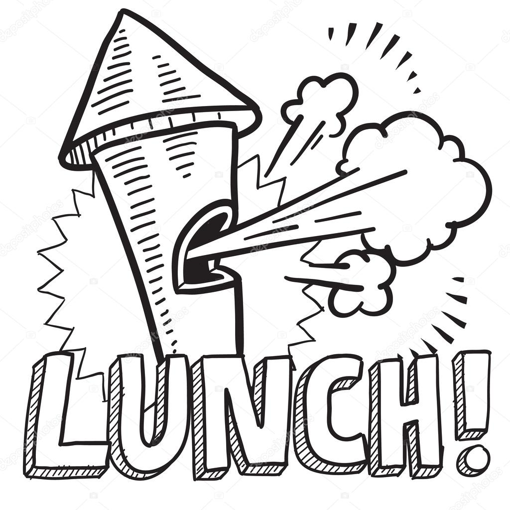 Lunch break sketch — Stock Vector © lhfgraphics #21993781