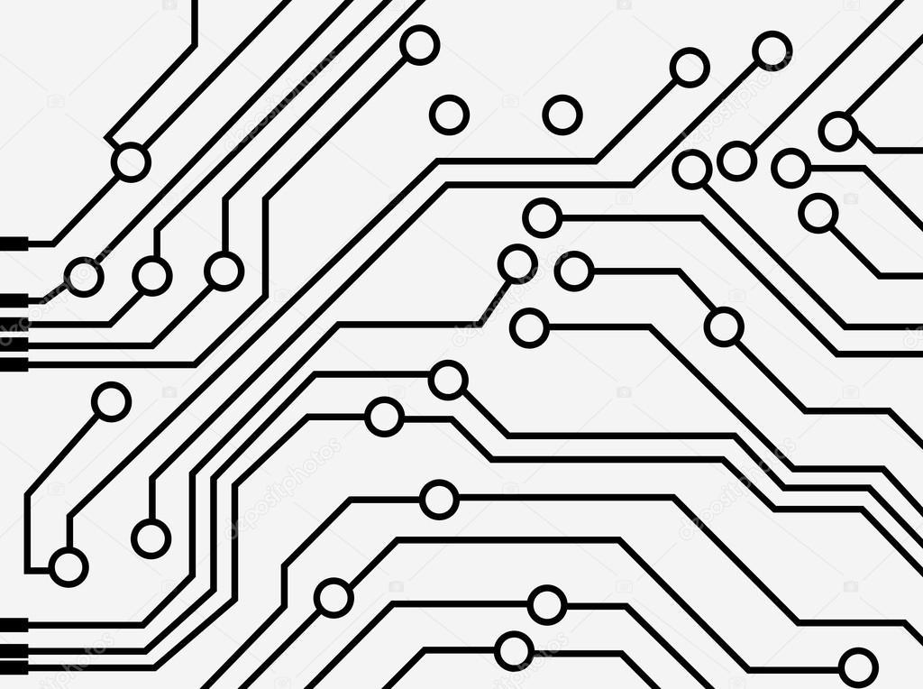 Computer circuit board — Stock Vector © spirit-alex #18340073