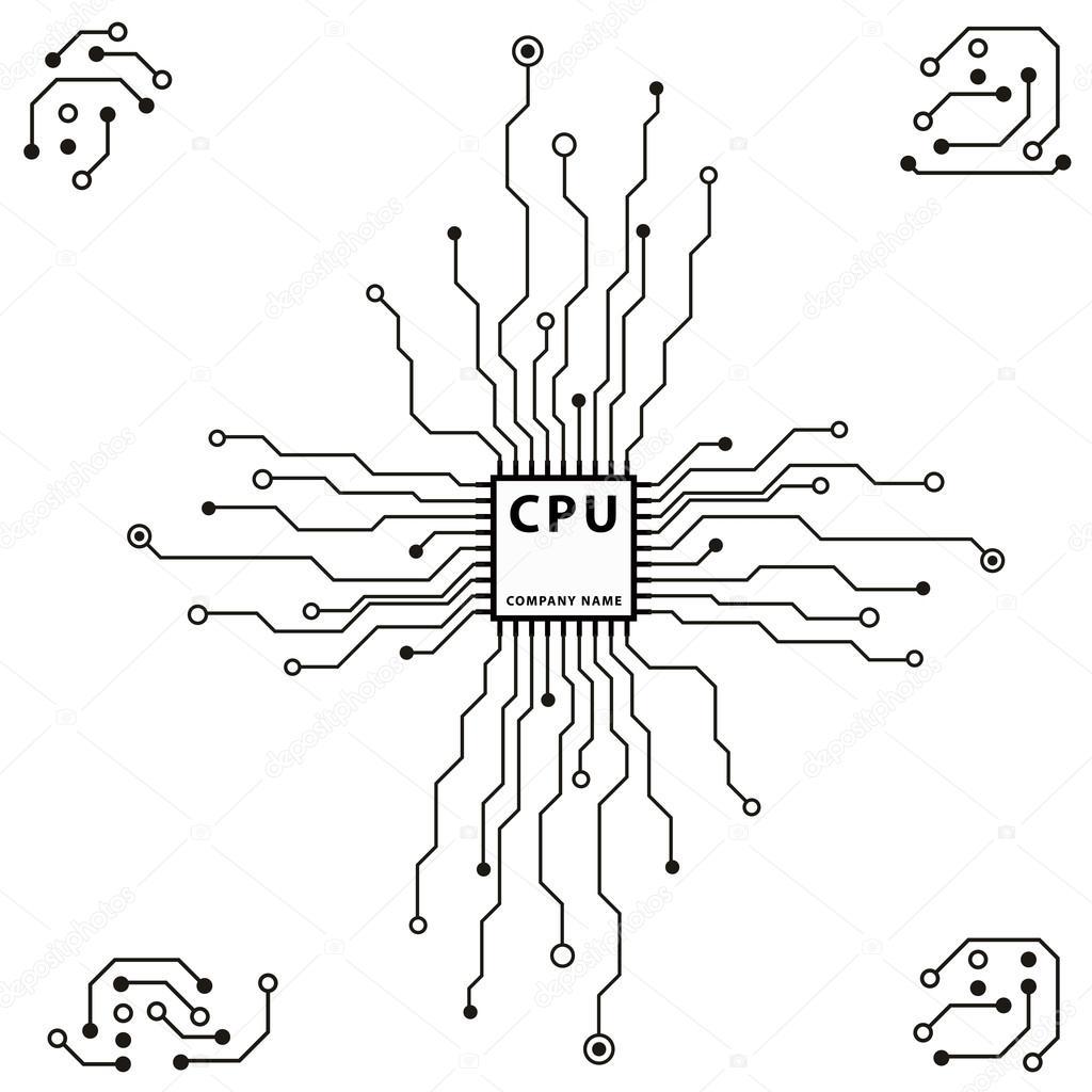 Computer circuit board — Stock Vector © spirit-alex #18340163