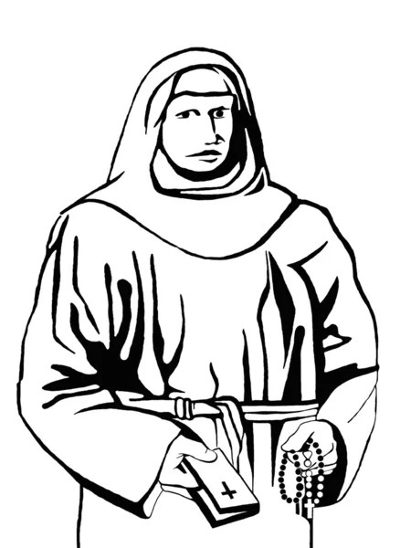 Black and white portrait of Jesus holding the hands planet
