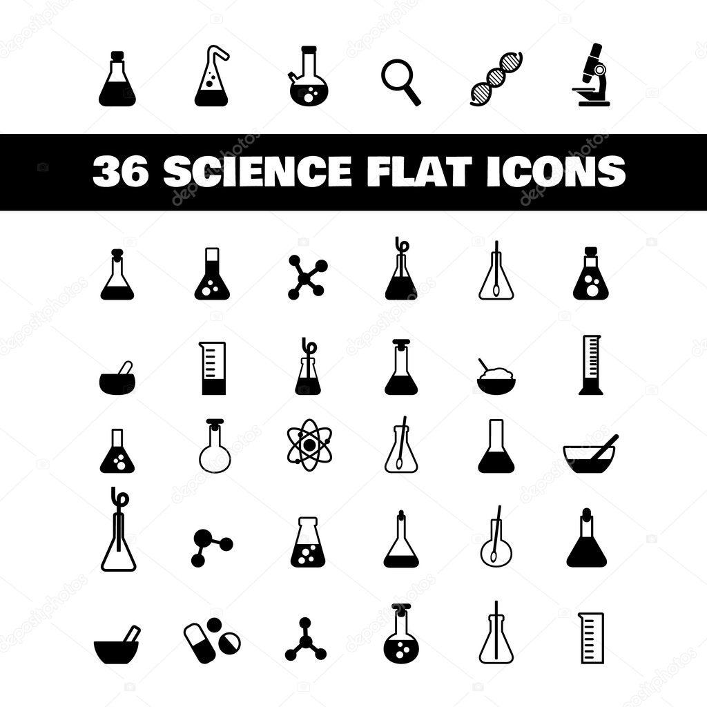 Flache Symbol Wissenschaft