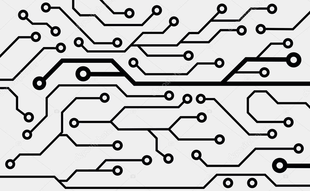Computer circuit board — Stock Vector © helen-light #15785079