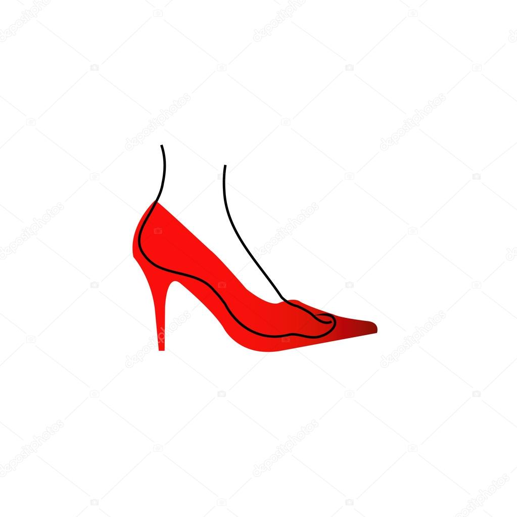 hight resolution of foot in a red shoe diagram stock vector