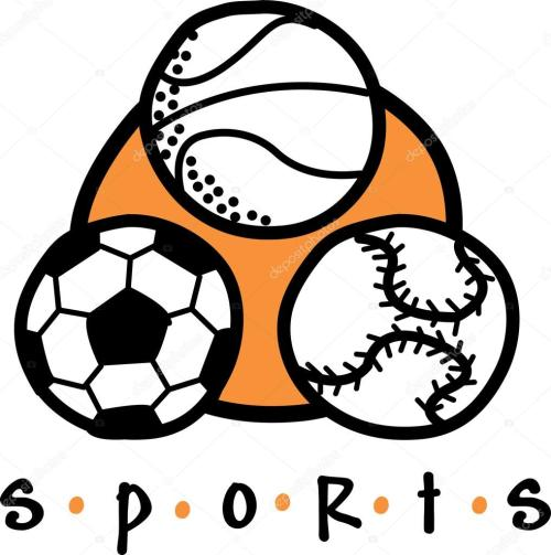 small resolution of basketball soccer ball and baseball clipart illustration stock illustration
