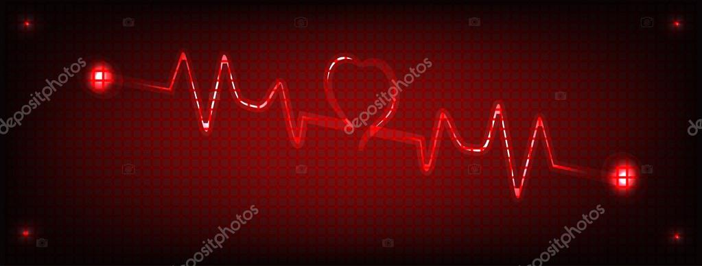 red heart beat stock