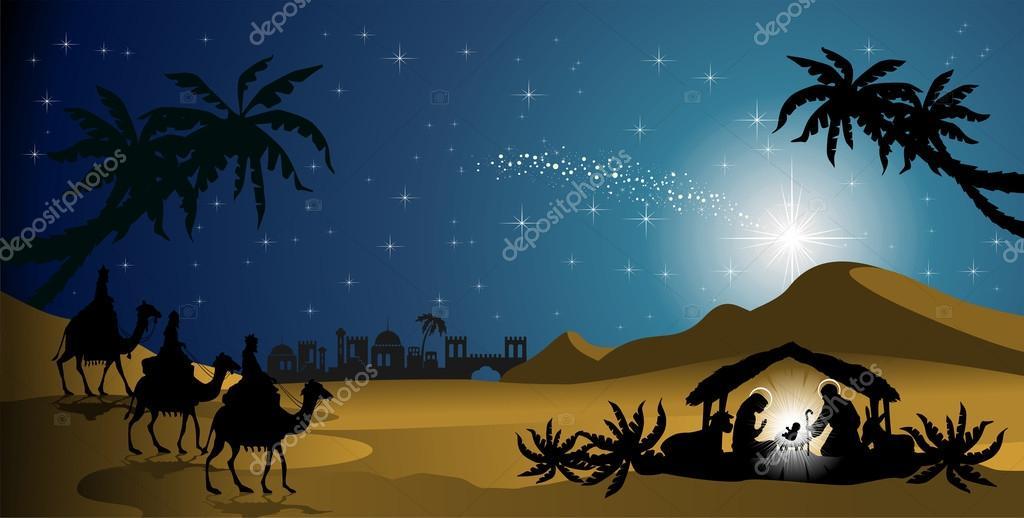 Nativity silhouettes  Stock Vector  iostephy 33635061