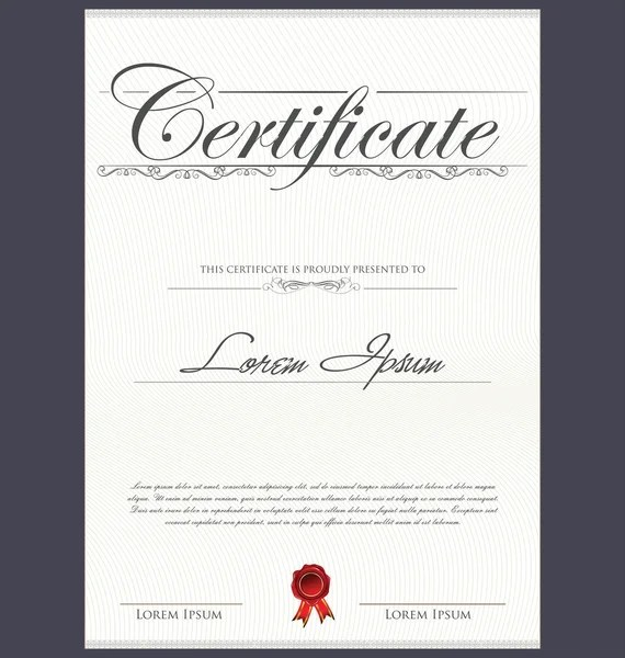 Certificate template — Stock Vector © totallyout #27927065