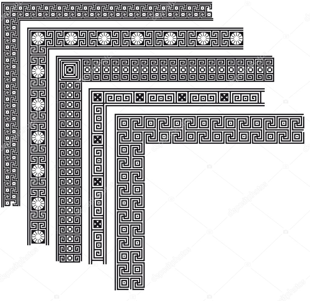 Greek pattern corner  Stock Vector  kinanik 26477449