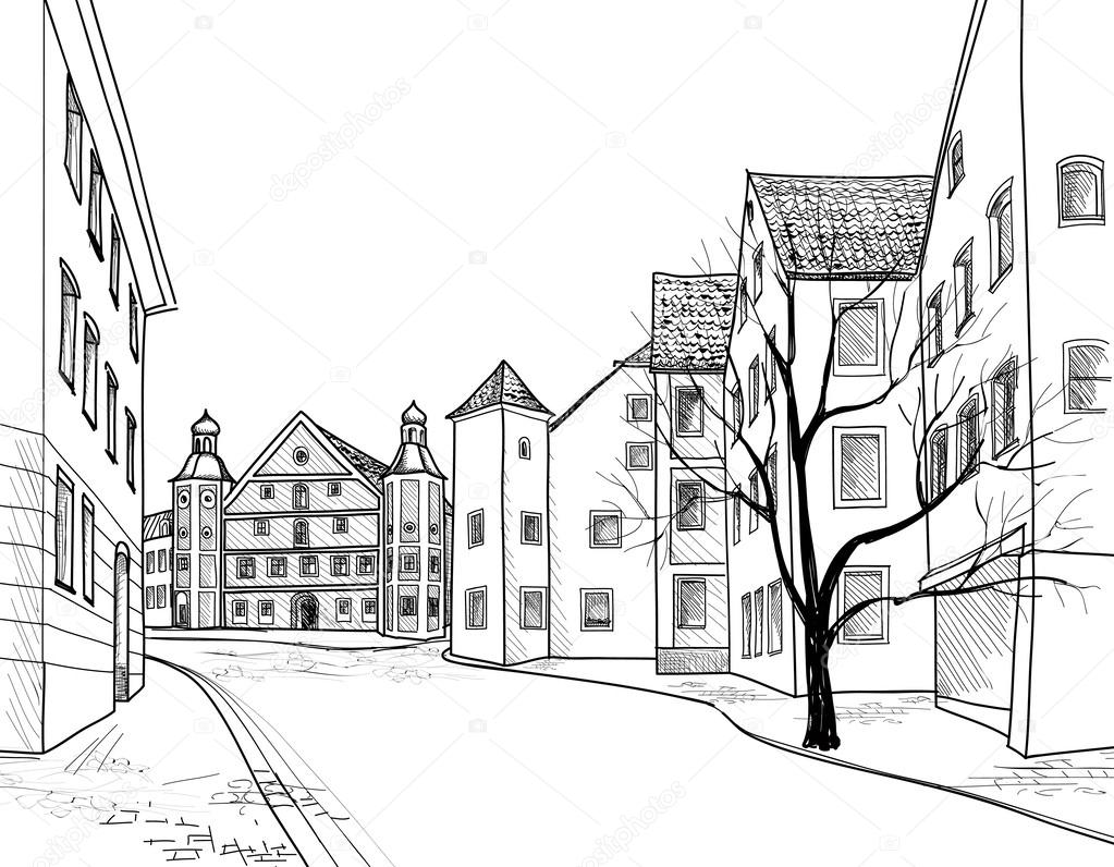 European downtown landscape — Stock Vector © YokoDesign