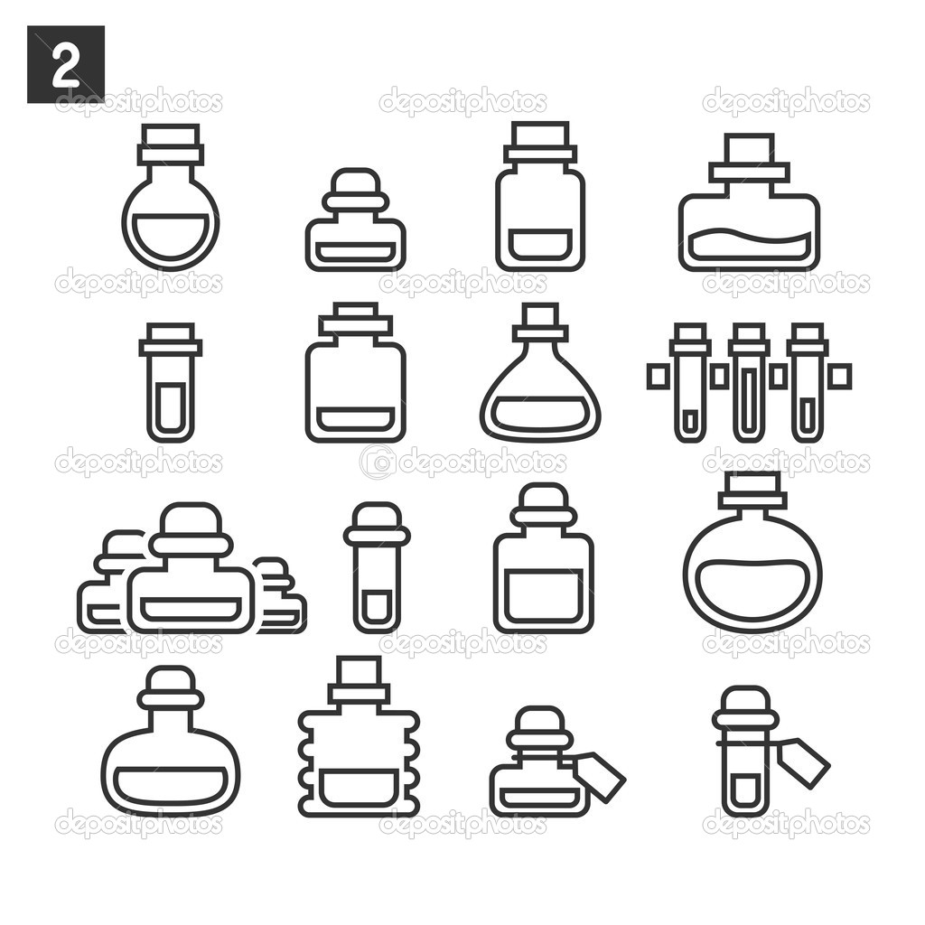 Potion Bottle Coloring Page Coloring Pages