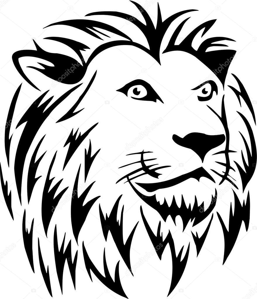 Cabeça de leão — Vetor de Stock © BaxSpirit #18247545