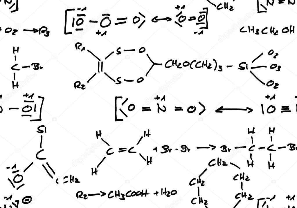 fond de formule chimique sans soudure — Photographie shawn