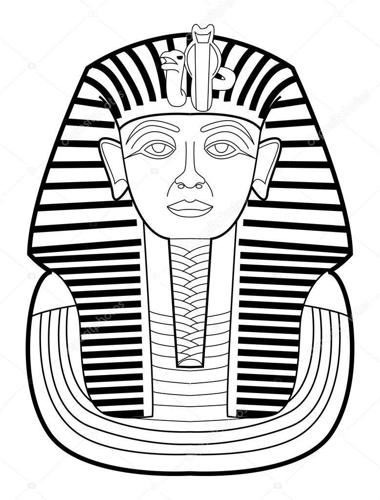 Vector illustration of pharaoh — Stock Vector