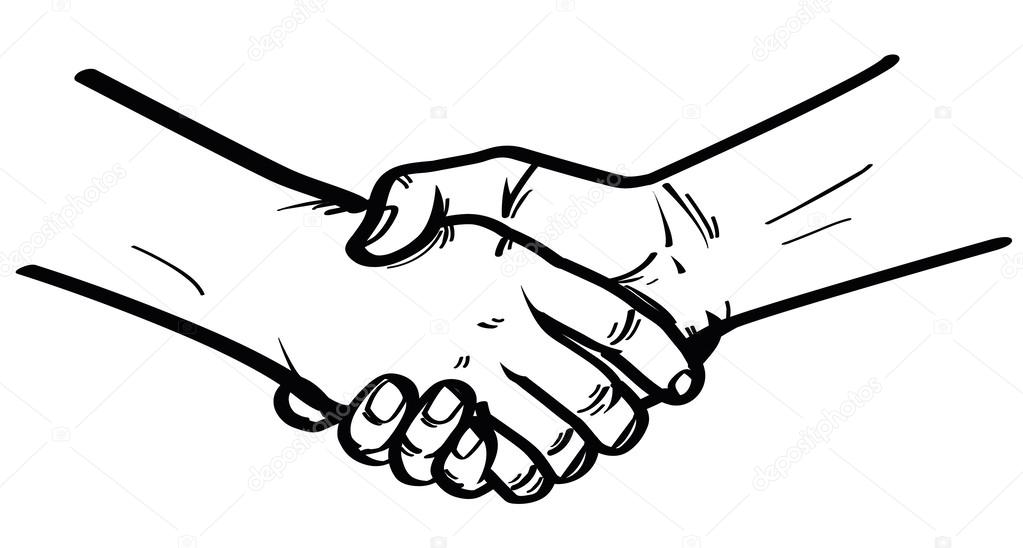Illustration of shake hand — Stock Vector © indomercy2012
