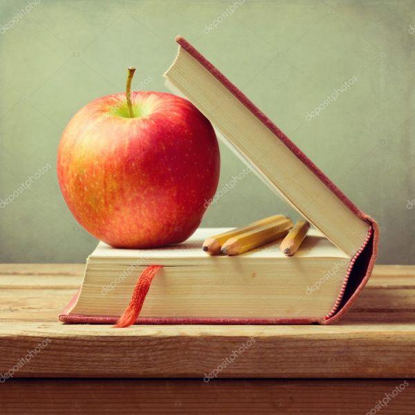 Apple Book School Teacher