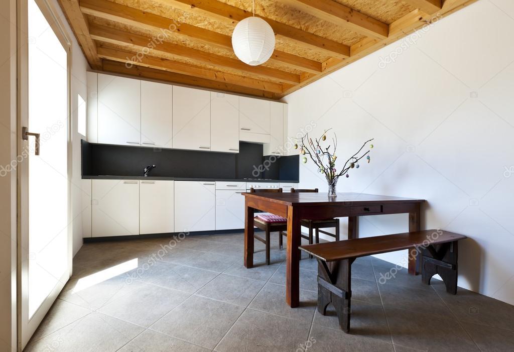 wooden kitchen table double sink 木制的厨房的桌子 图库照片 c zveiger 37530187