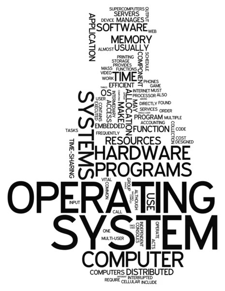 Word Cloud Operating System — Stock Photo © mindscanner