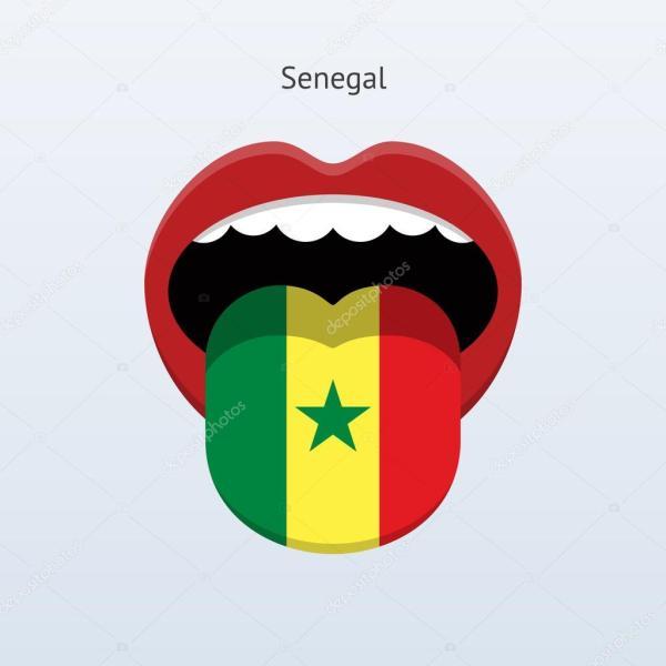 lingua del Senegal lingua umana astratta Vettoriali