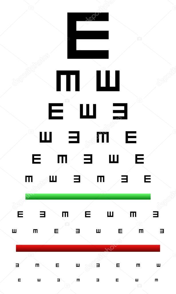 prueba optométrica — Vector de stock © radub85 #42129209
