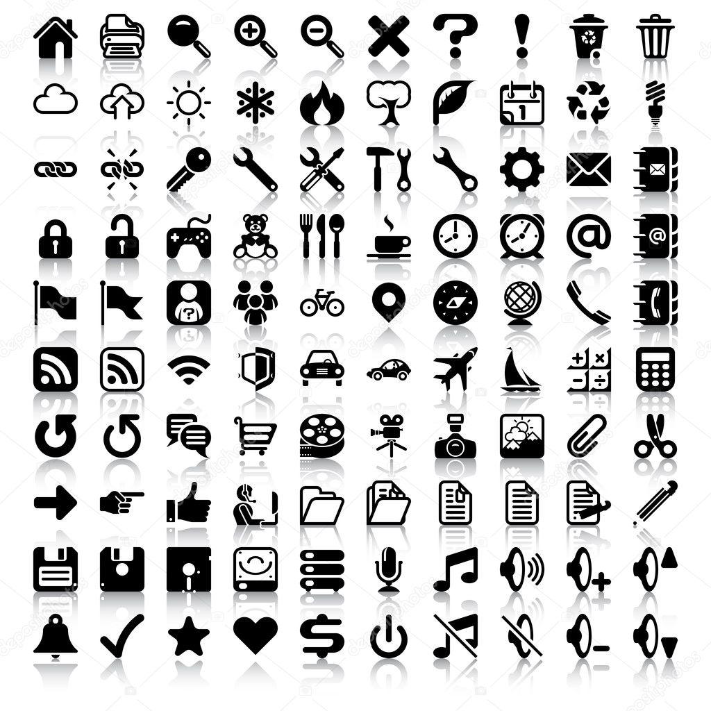 Set Di Icone Minimaliste
