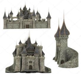 medieval castle fantasy 3d parts poses crystal calhoun depositphotos