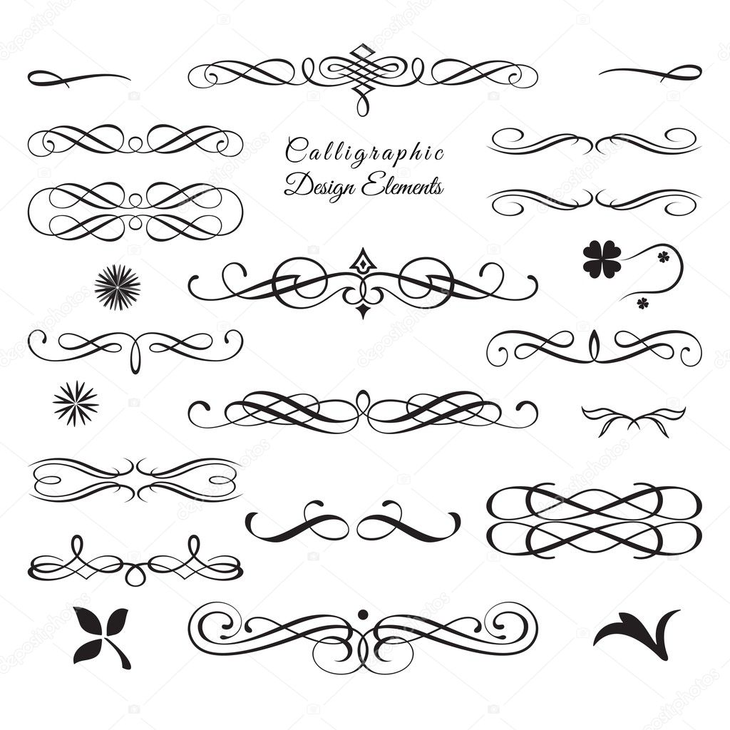 Collection Of Arabesque And Calligraphic Decorative