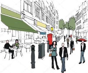 london vector shopping mall pedestrians street want common does pedestrian depositphotos