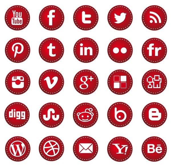 RED web design and graphic-design icons set — Vettoriali Stock  #29553555