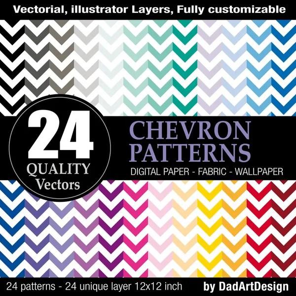 24 vector chevron patterns