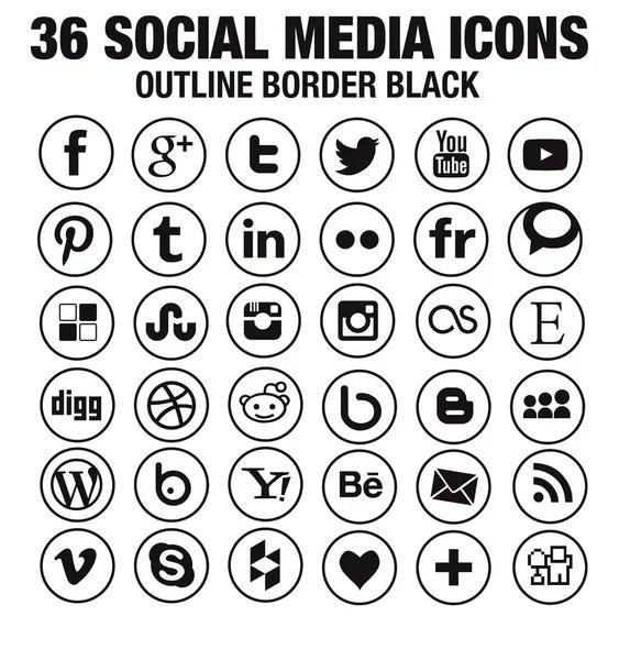 Line vector social media icon