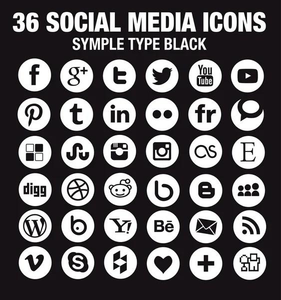 White circle social media icon