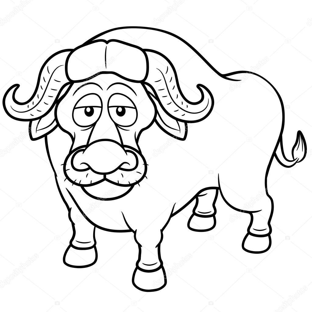 Bufalo Africano Dos Desenhos Animados