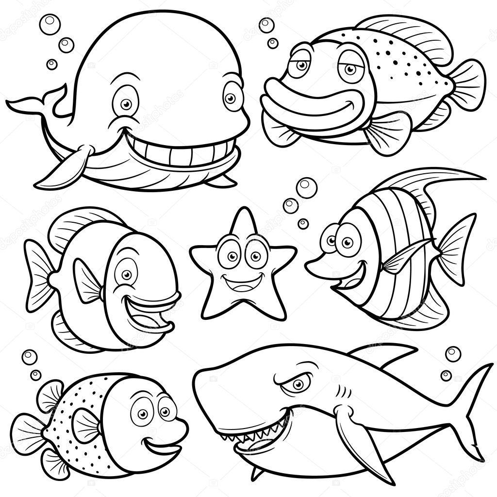 Sea Animals Collection — Stock Vector © sararoom #29605767
