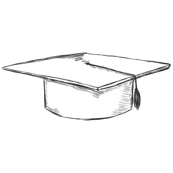 Cappello accademico di disegno vettoriale  Vettoriali