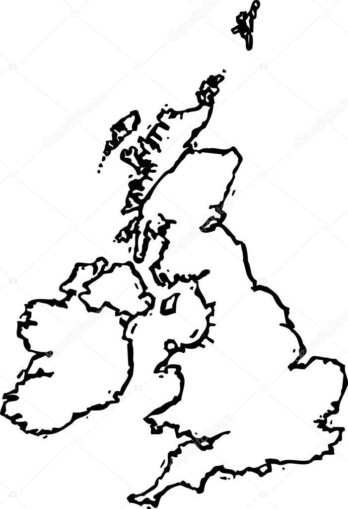 Mapa De Reino Unido Para Colorear