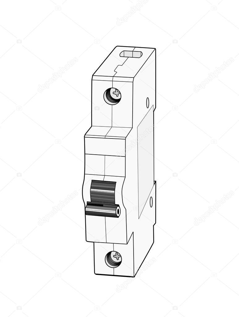 Circuit breaker. — Stock Vector © Lucaso #48609419