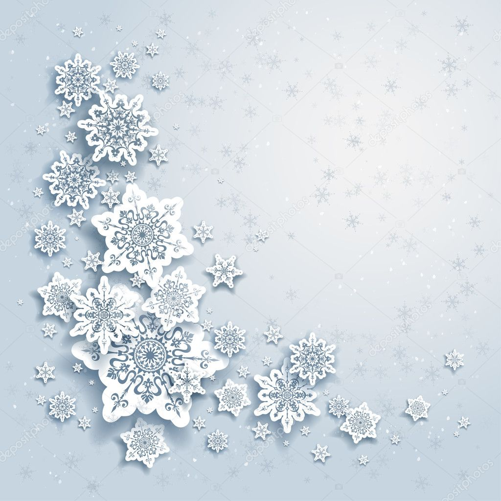 Christmas Falling Snow Wallpaper Note 3 Winter Background With Snowflakes Stock Vector 169 Paprika