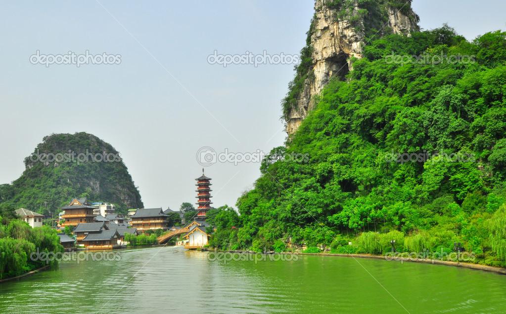 Guillin Cina sette stelle park e Carso rocce yangshuo  Foto Stock  weltreisendertj 42685723