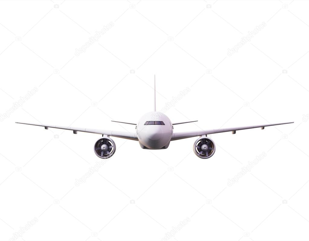 render of airplane stock
