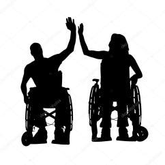 Wheelchair Jobs Tufted Slipper Chair Vettore Sagome Di Persone In Sedia A Rotelle  Vettoriali