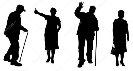 Vector silhouette of old people Stock Vector © MAJIVECKA #47691633