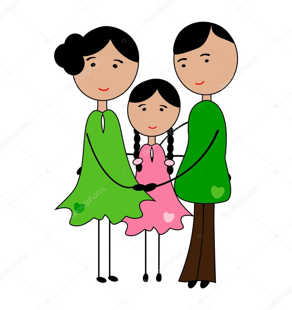 Áˆ Cartoon Family Stock Drawings Royalty Free My Family Images Download On Depositphotos