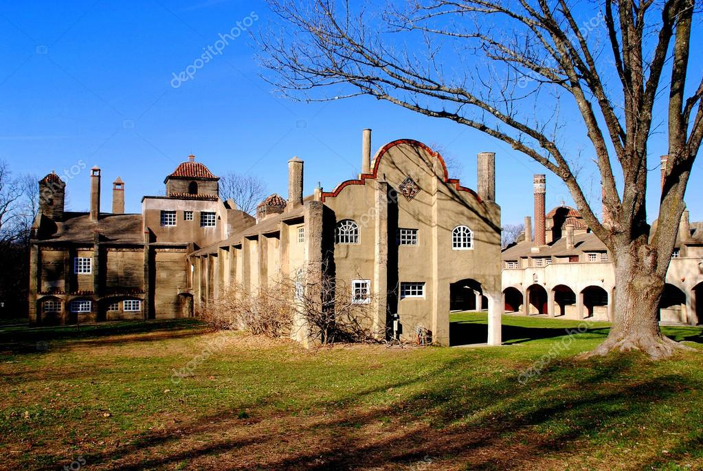moravian pottery and tile works factory in doylestown pa stock photo image by c leesnider 43261819