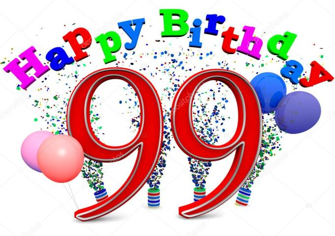 Happy 99th birthday — Stock Photo