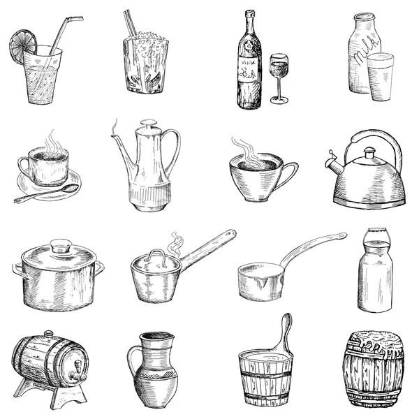 Vintage restaurant menu design with hand drawn