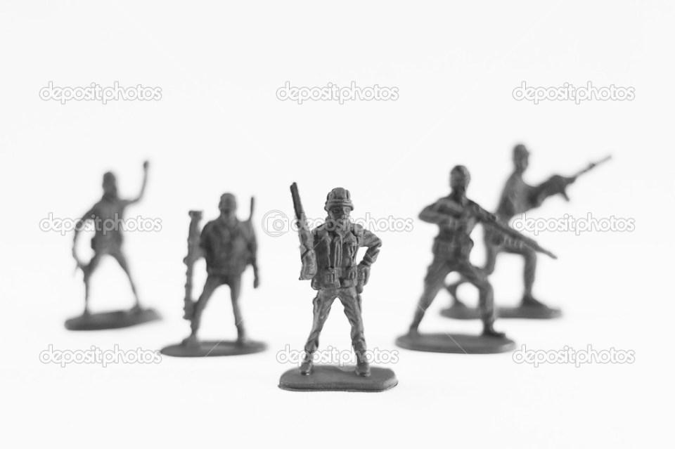 白のおもちゃの兵隊 — ストック写真 © sirichaideposit #46658993