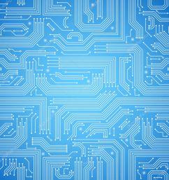 circuit board seamless blue pattern stock vector macrovector [ 1024 x 1024 Pixel ]